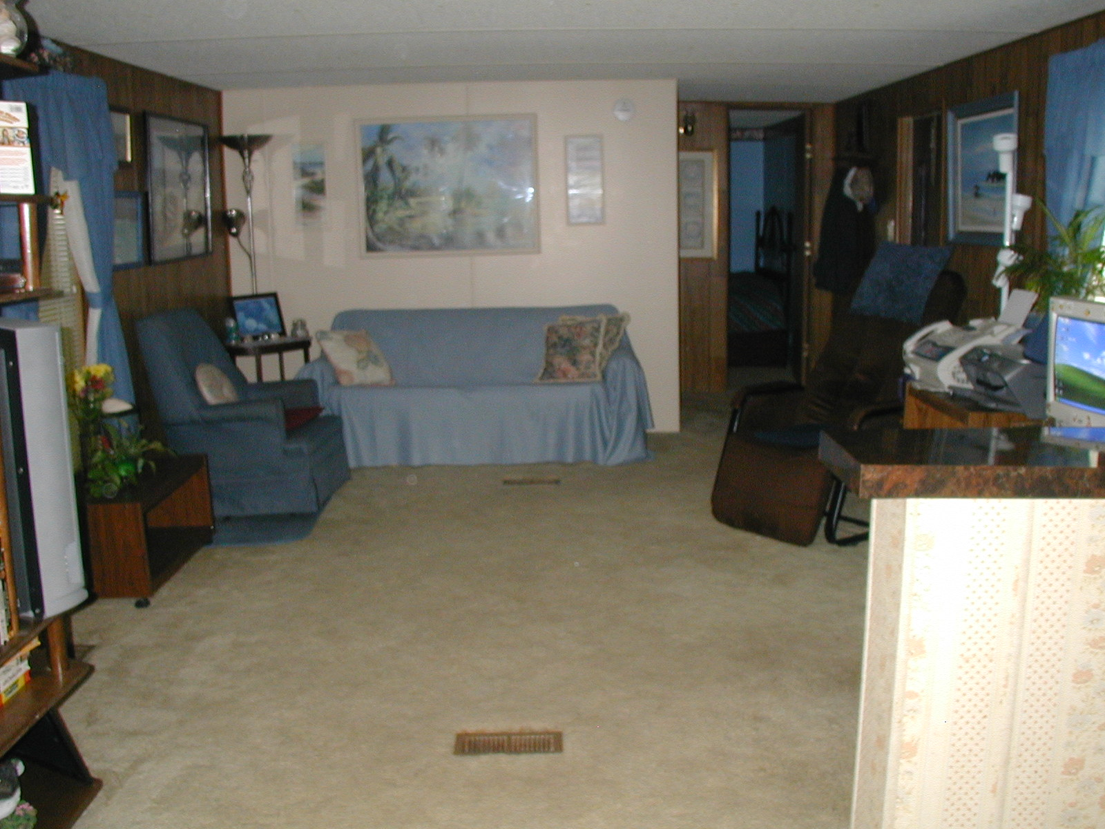 Living room from kitchen see note below lake house for 17 x 14 living room